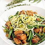 Courgette Spaghetti With Green Beans