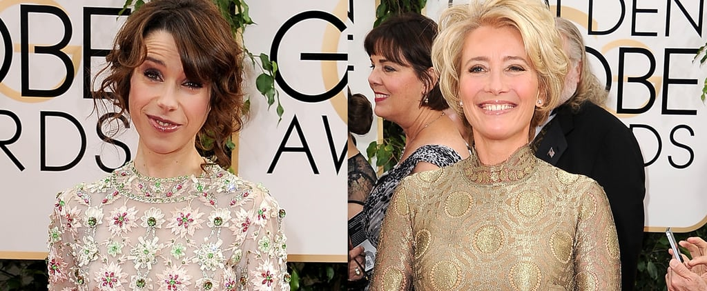 Emma Thompson in Vintage at the Golden Globes 2014