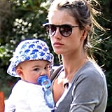 Alessandra and her son, Noah Mazur, went out in LA.