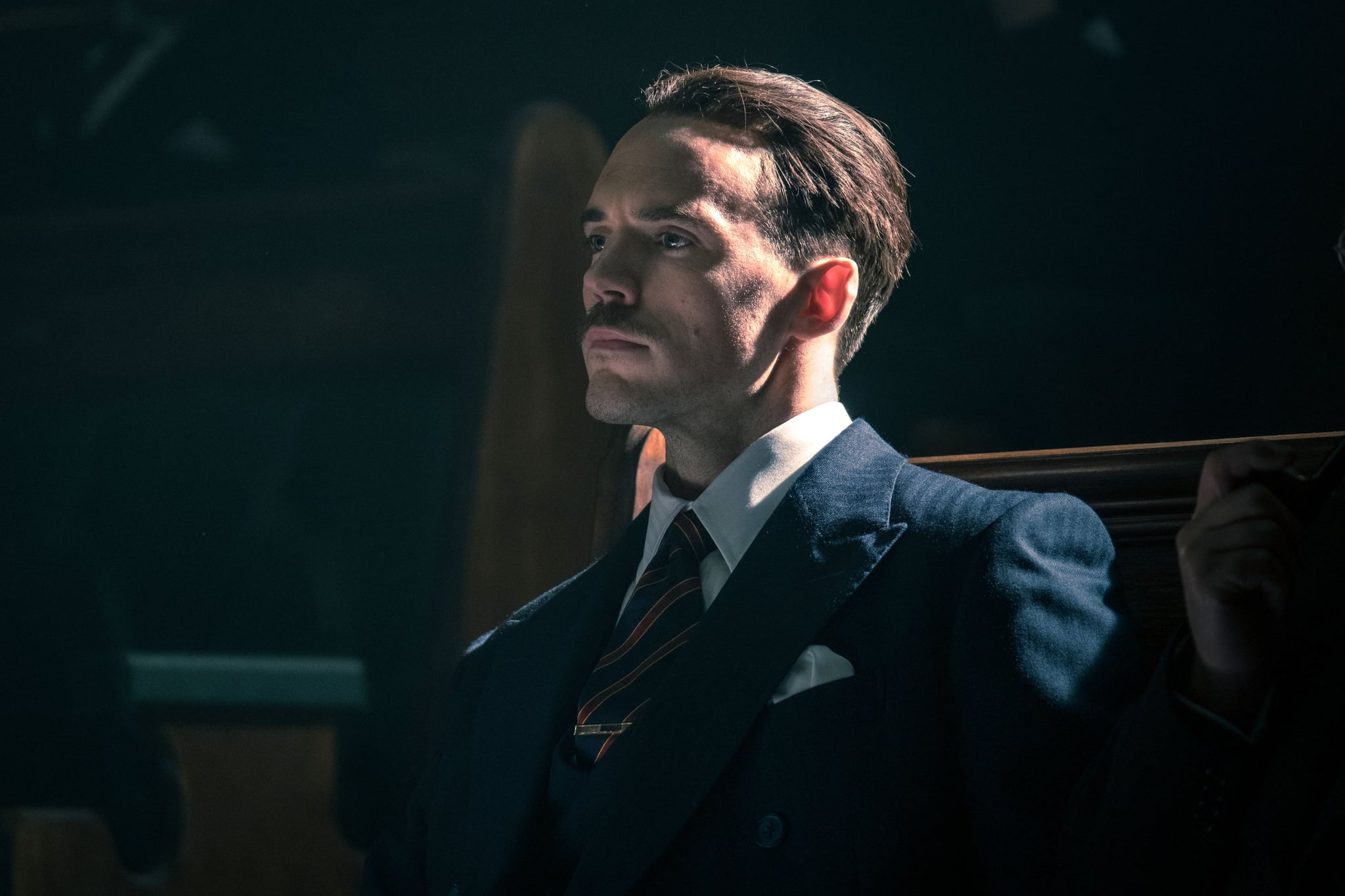 WARNING: Embargoed for publication until 00:00:01 on 20/08/2019 - Programme Name: Peaky Blinders V - TX: n/a - Episode: Peaky Blinders V Ep 1 (No. 1) - Picture Shows:  Oswald Mosley (SAM CLAFLIN) - (C) Caryn Mandabach Productions Ltd. 2019 - Photographer: Robert Viglasky