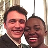 Even James Franco was starstruck by Lupita, as evidenced by this Instagram photo that he shared last month. Source: Instagram user jamesfrancotv