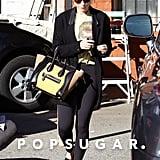 Kate Mara Looked Dressed Down in a Tee, Leggings, and Cardigan