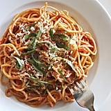 Spaghetti With Greek Yogurt Tomato Sauce