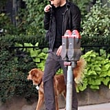 Ryan Reynolds in Boston with Baxter.