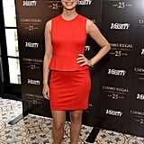 Morena Baccarin looked lovely in a red outfit.