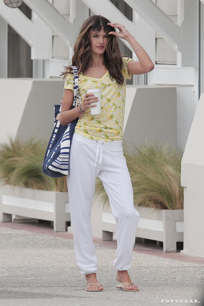 Alessandra Ambrosio modeled a casual look.