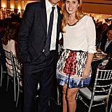 Clive Owen and Princess Beatrice cosied up at the Masterpiece Marie Curie Party in London.