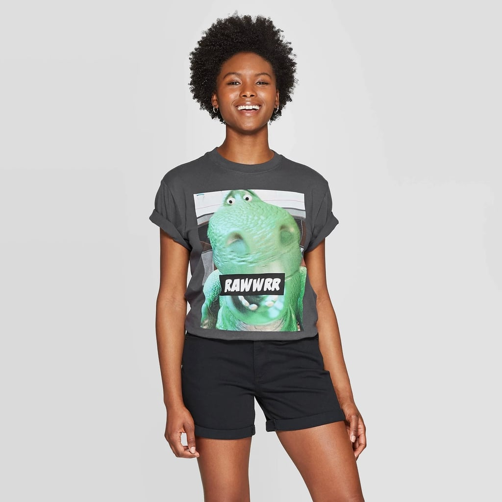Women's Disney Pixar Toy Story Short Sleeve Rex Cropped Graphic T-Shirt