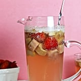 Roasted Rhubarb Strawberry Sangria