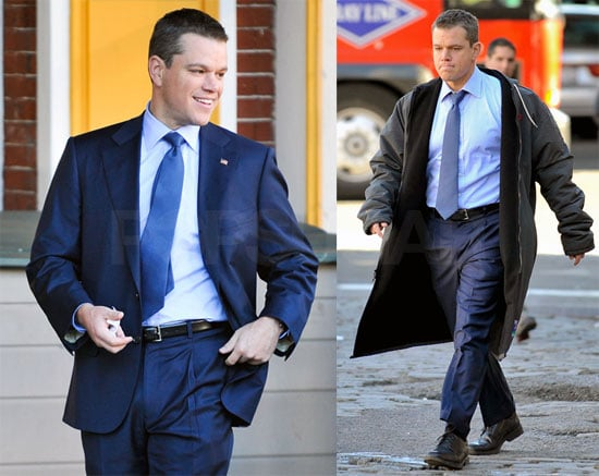 Photos of Matt Damon On Set For the Adjustment Bureau 2009-10-20 15:30:23