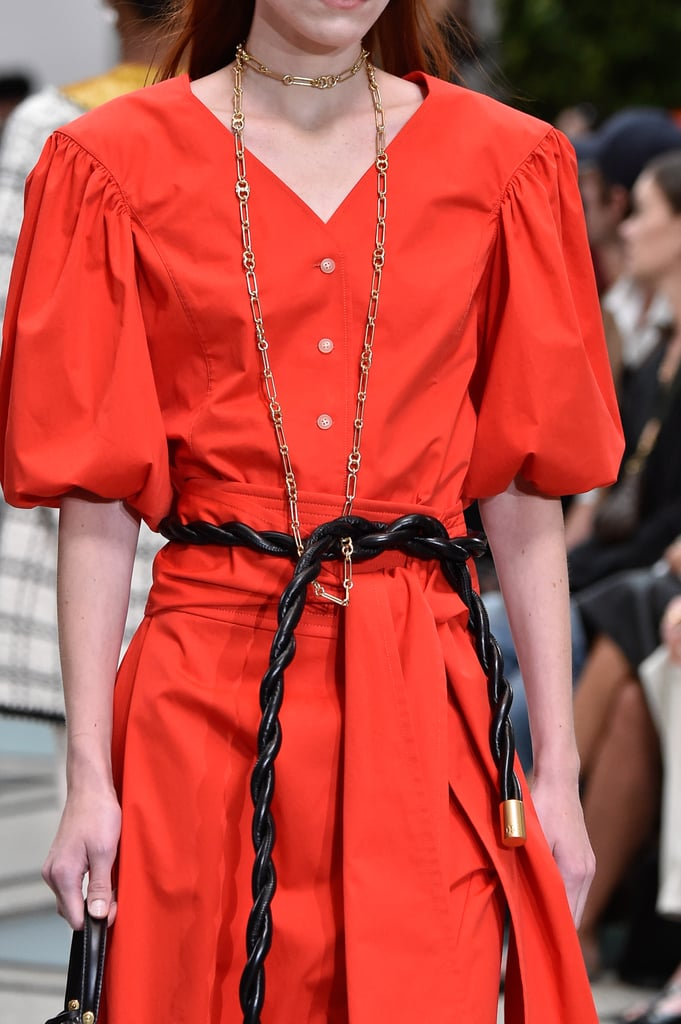 A Belt on the Tory Burch Runway at New York Fashion Week