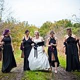 This Backyard Wedding Had Charming Rustic Halloween Decor