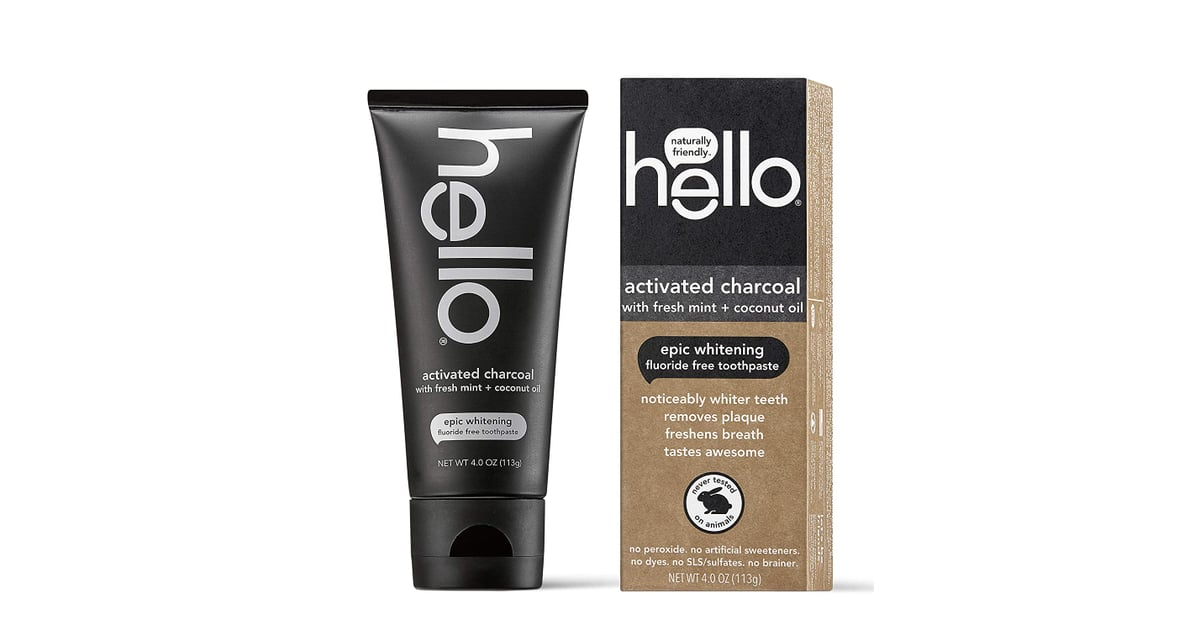 Hello Oral Care Activated Charcoal Teeth Whitening Fluoride Free