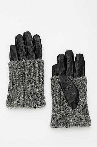Leather trim sets these knit gloves ($34) apart from the rest.