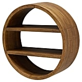 Round Mango Wood Wall Shelf