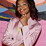 Marsai Martin's Graphic Pink and Green Eyeliner