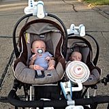 Bring a stroller cover or clip-on fan to keep baby cool.