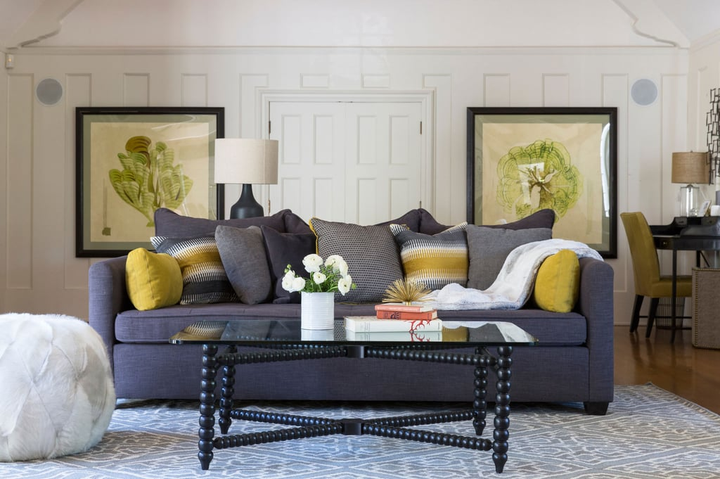 Tiffani updated the home dramatically after purchasing it for Sophisticated color palette
