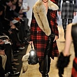 A plaid coat at Michael Kors- rugged and super cozy.