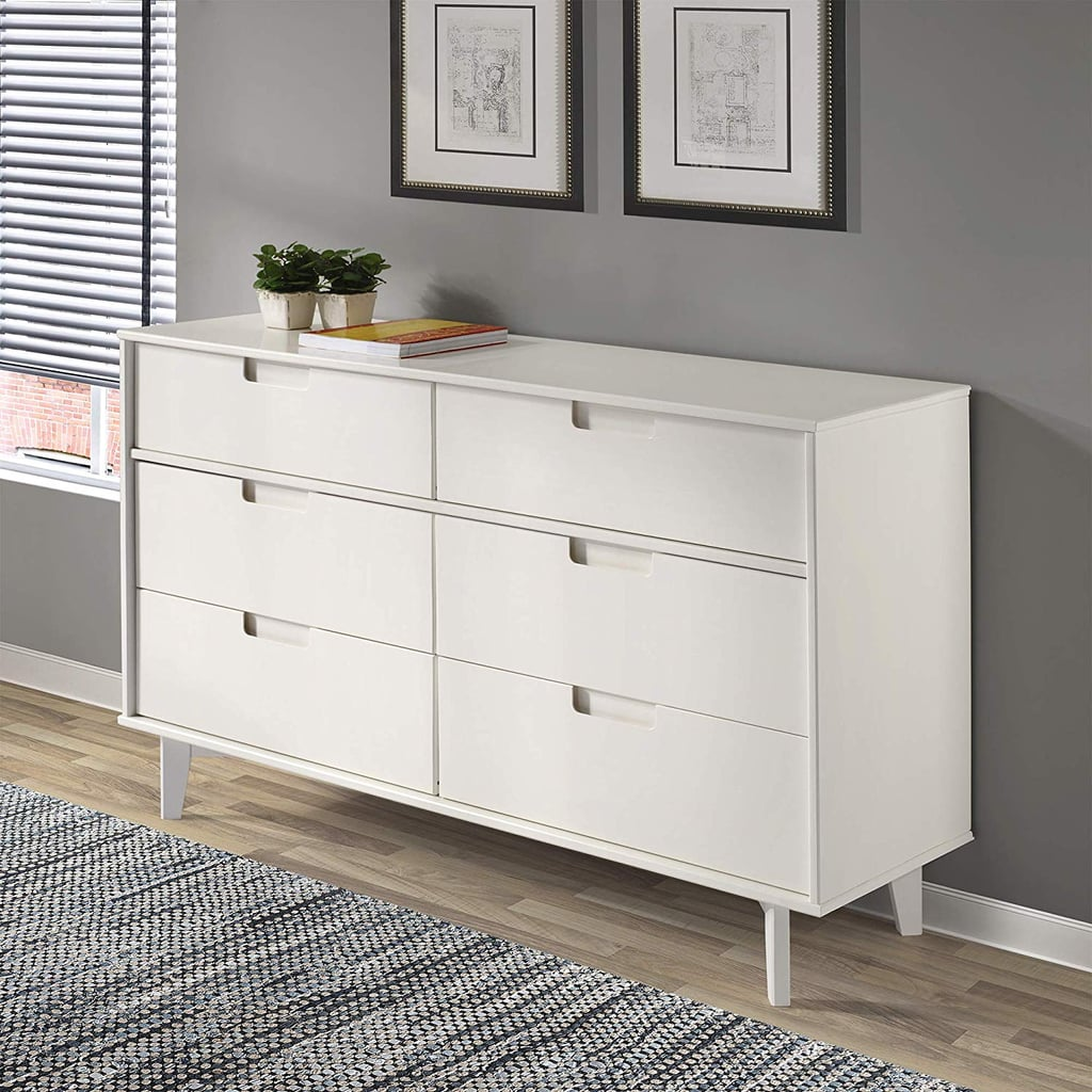 WE Furniture Pine Wood 6-Drawer Dresser