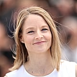 Money Monster director Jodie Foster kept her hair and makeup looking natural and fresh for a photocall.