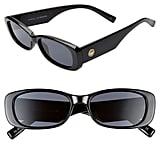 Le Specs Unreal 50mm Rectangle Sunglasses