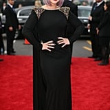 Kelly Osbourne wore black to the Grammys.