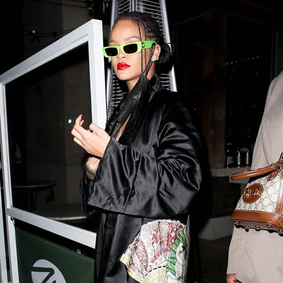 Rihanna Wears Vintage Chanel Lingerie Top and Track Pants
