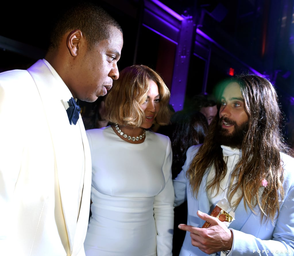 Jay Z, Beyoncé, and Jared Leto