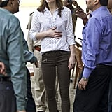 Kate Wearing Them at the Kaziranga National Park in India