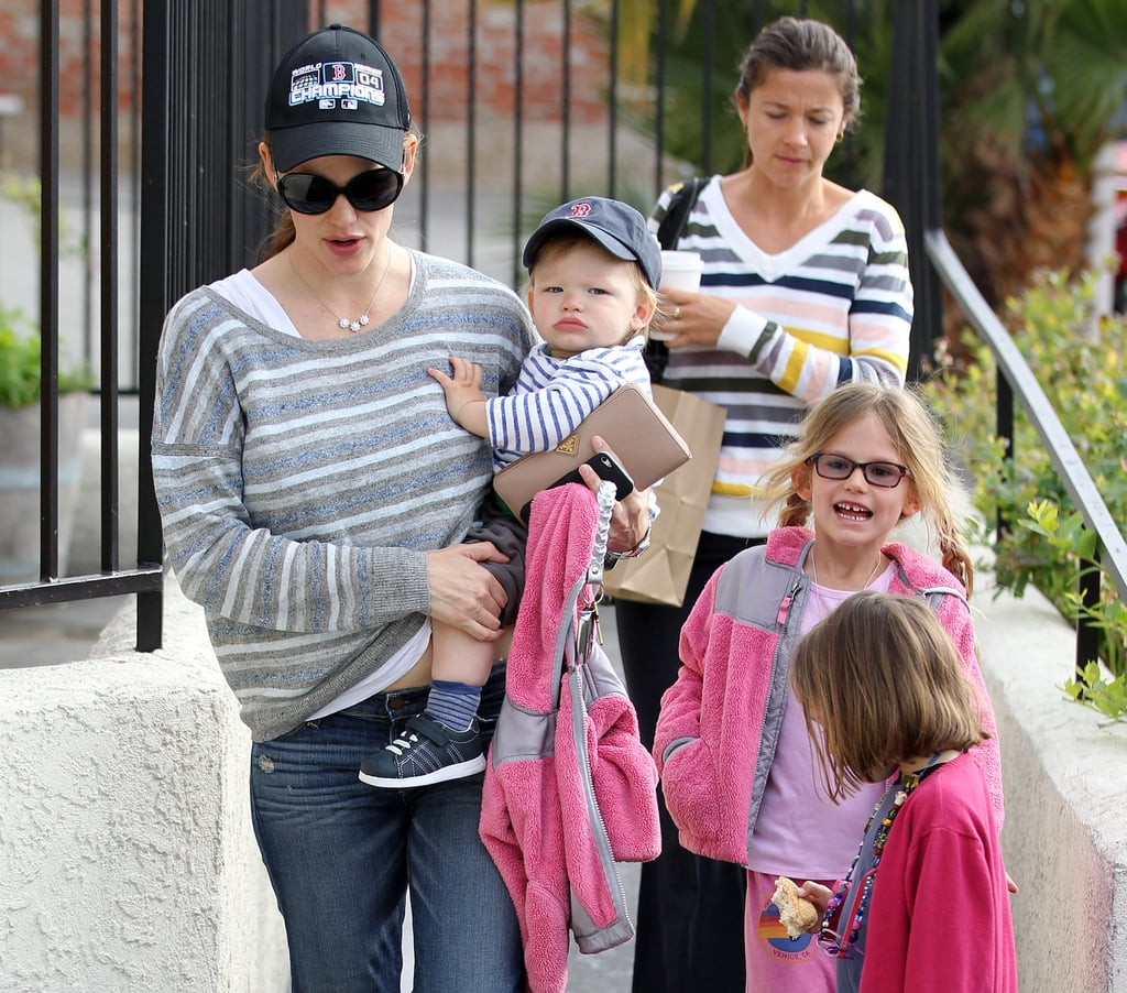 Jennifer Garner had all three off her kids on hand for a brunch outing in LA in March 2013.