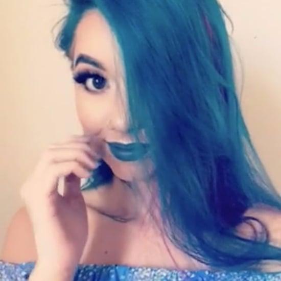 Blaue und Pinke Haare gleichzeitig