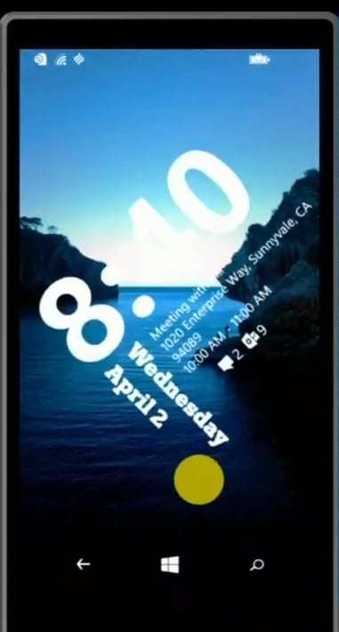 There's a new lock screen in Windows Phone 8.1.