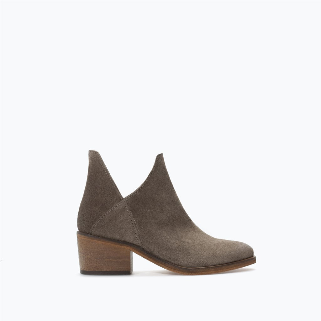 Zara Flat Hide Ankle Boot