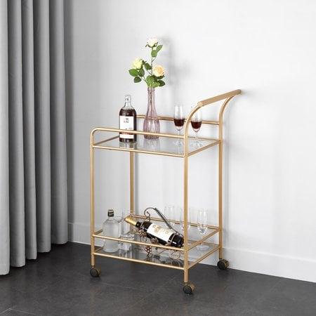 mainstays tempered glass and metal bar cart best furniture under 100 popsugar home photo 15. Black Bedroom Furniture Sets. Home Design Ideas