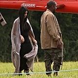 Pregnant Kim Kardashian at Glastonbury Festival | Pictures