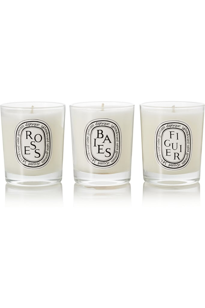 Diptyque Baies, Roses, and Figuier Set of Three Candles