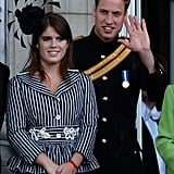Pictured: Princess Eugenie and Prince William.