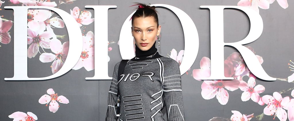 Bella Hadid Flower Sneakers at Dior Show