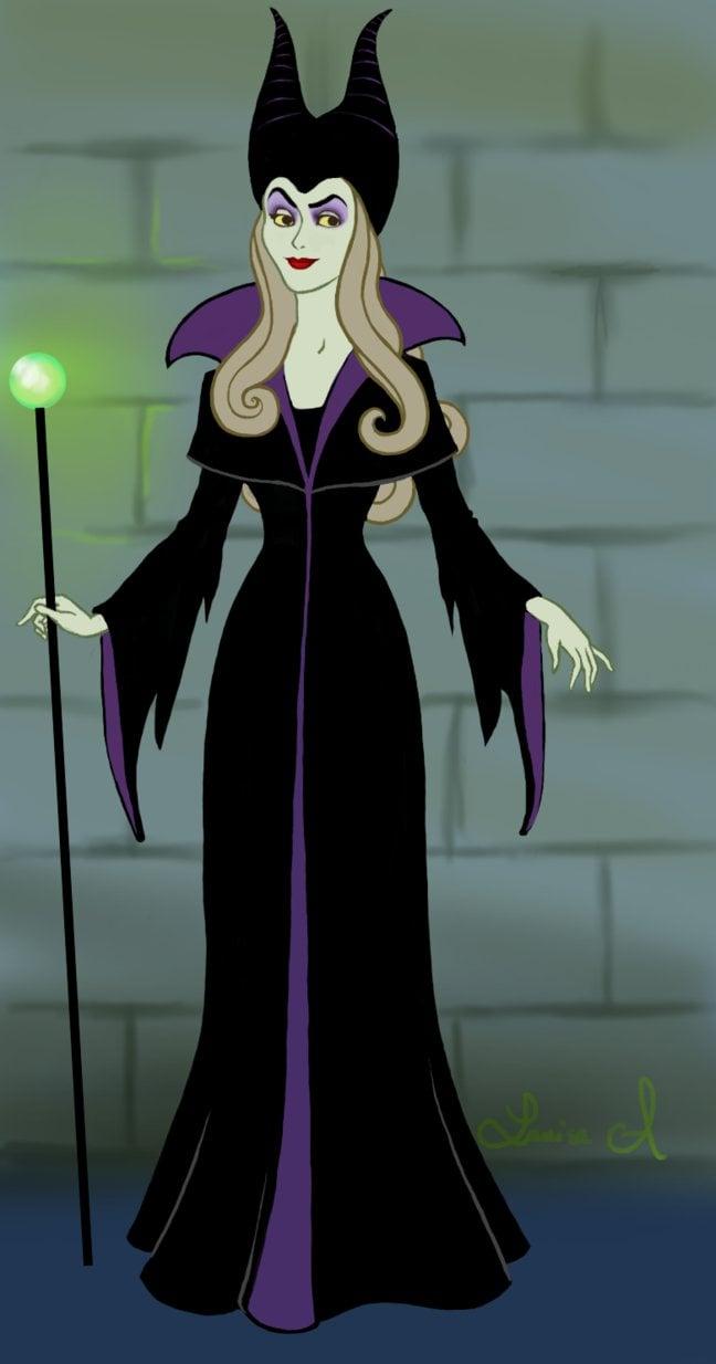 Princess Aurora as Maleficent | These Disney Princesses ...