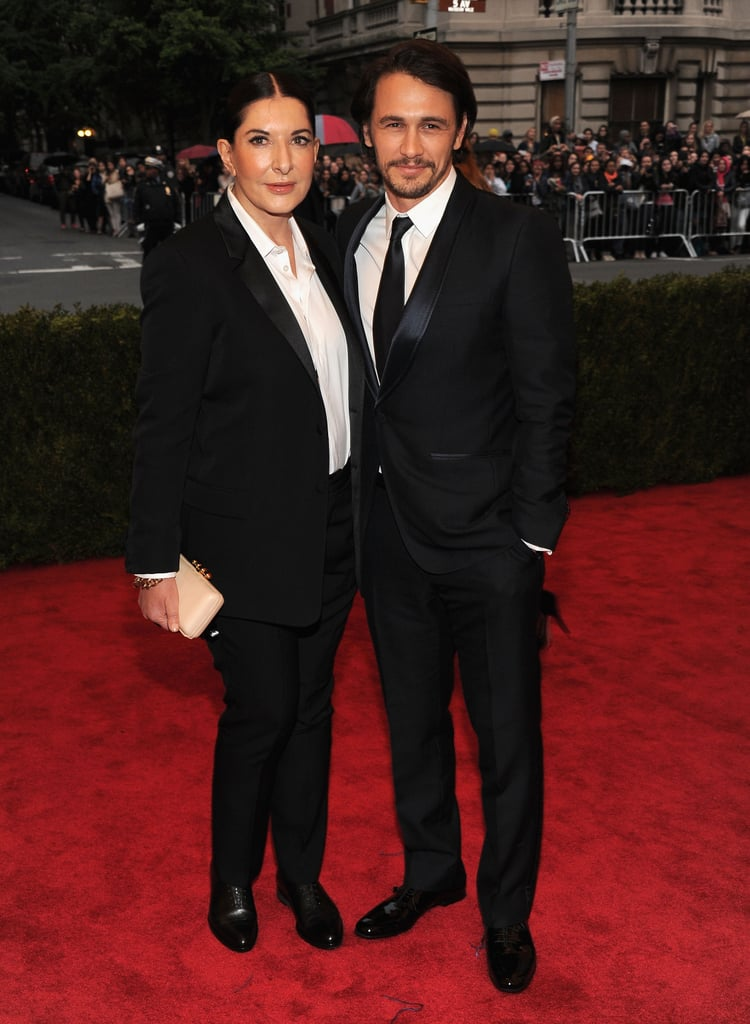 James Franco posed with Marina Abramovic on the red carpet.