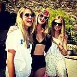 Cara Delevingne, Poppy Delevingne, and Sienna Miller