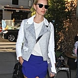 Karolina Kurkova added an old-school flair to her modern ensemble in her clubmaster shades. To do the same, shop a bevy of clubmaster sunglasses on ShopStyle.
