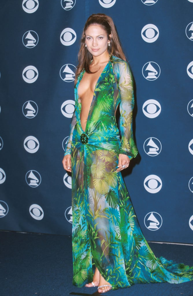 Jennifer Lopez's Green Versace Dress at the 2000 Grammys