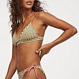 H&M Padded Triangle Bikini Top and Tie Bikini Bottom