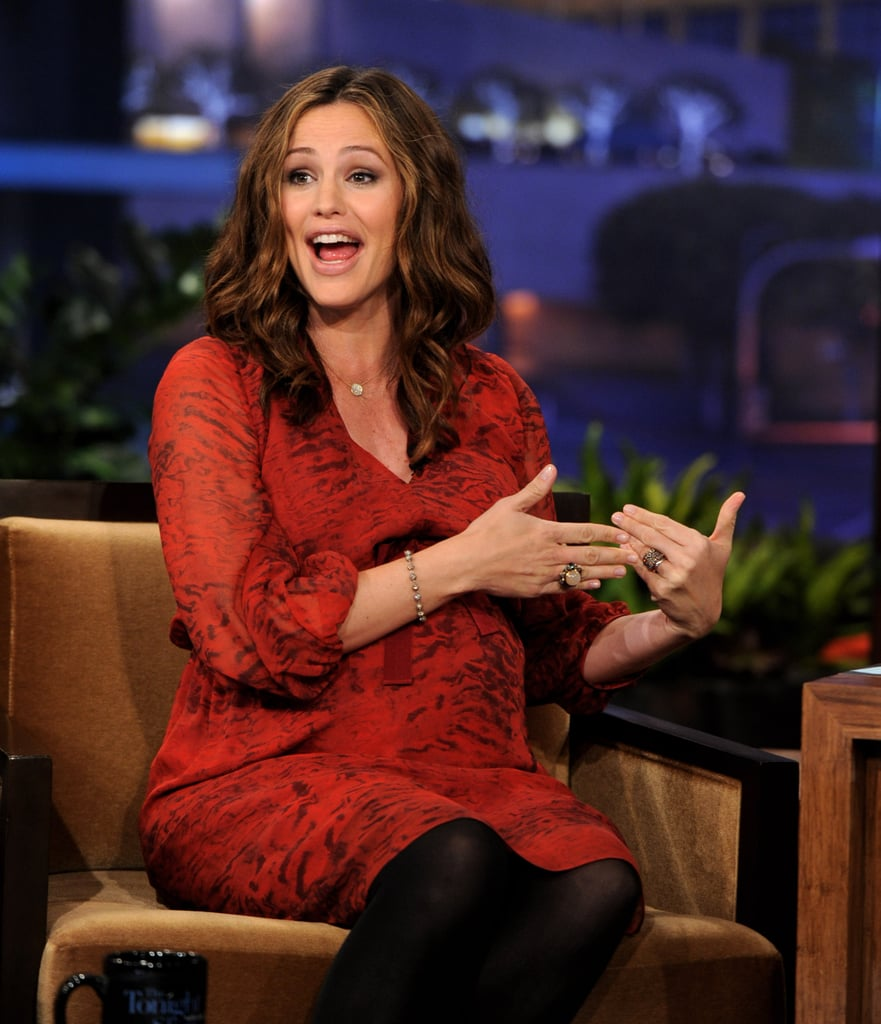 Jay Leno had Jennifer Garner on his show as a guest.