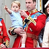 Pictured: Prince George and Prince William.