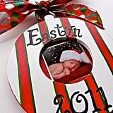 Handpainted Photo Ornament