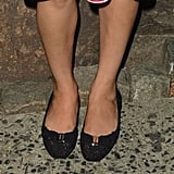 The actress has made clear her love of flats and accessories designer Roger Vivier.