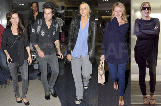 Photos of Audrina Patridge, Ryan Cabrera, Lo Bosworth, Stephanie Pratt, and Brody Jenner Returning to LA After Super Bowl